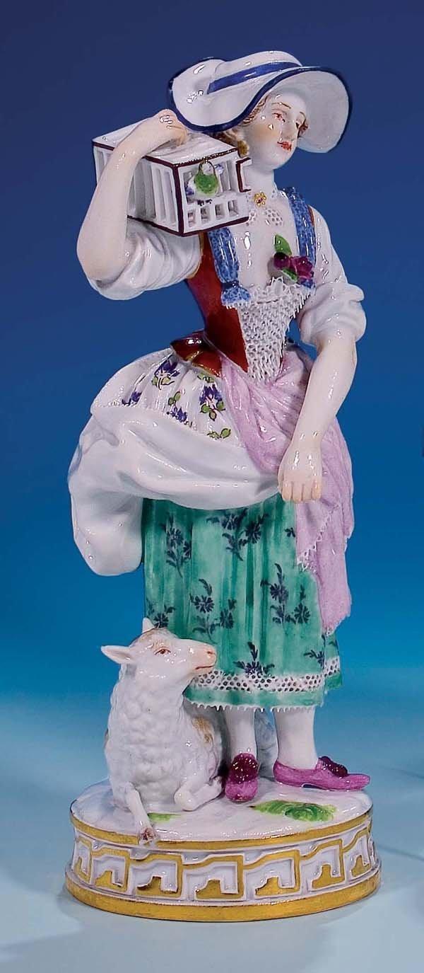 7: Figur Maedchen Meissen 19.Jh figurine Girl