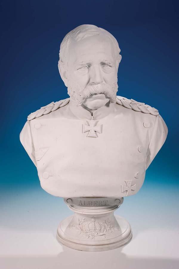 19: Bueste Albert I. von Sachsen Meissen Bust