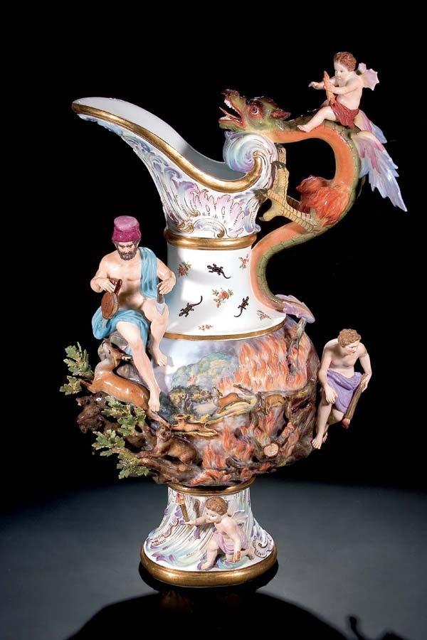 20: Kannenvase 'Feuer' Meissen pitcher vase