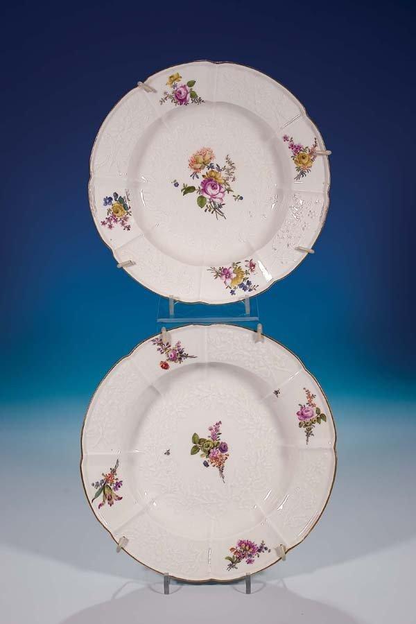 22: Paar Teller Meissen 1750 pair of plates