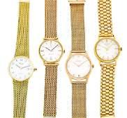 Konvolut vier Armbanduhren