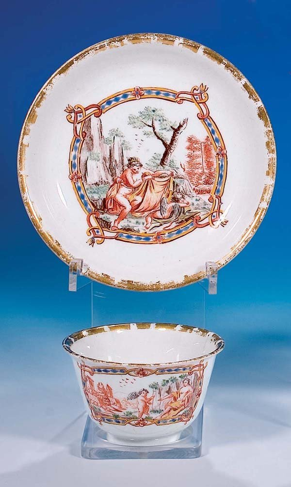 1: Koppchen coffee cup w. saucer Germany 1750