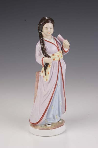 9: Asiatin figurine asian woman procelain Thuringia
