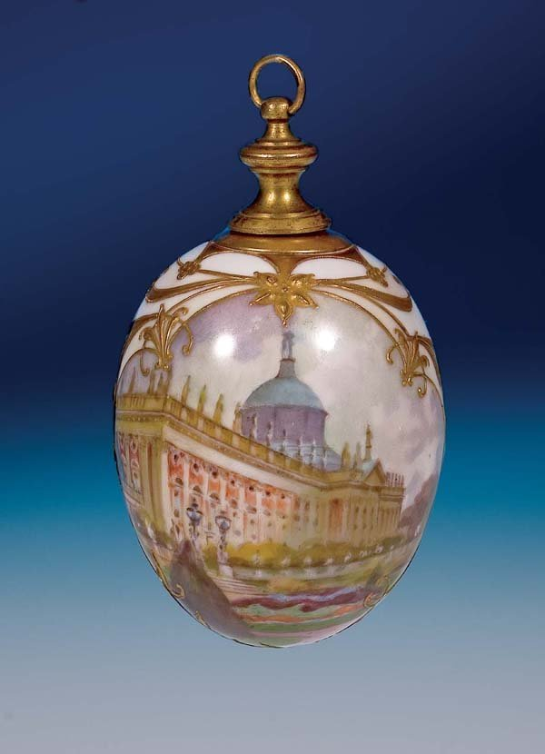 17: Osterei KPM Berlin porcellain Easter Egg 1900