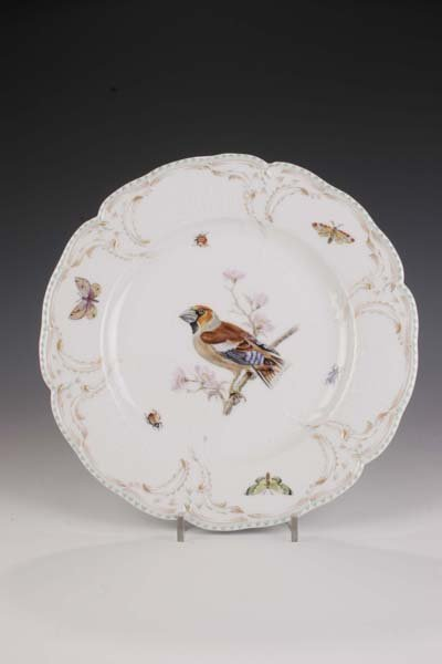 20: Teller KPM Berlin 1900 Plate bird-painting