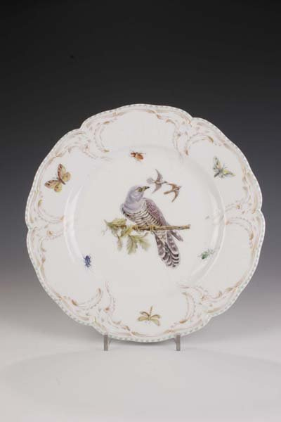 21: Teller KPM Berlin 1900 Plate bird-painting