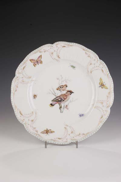22: Teller KPM Berlin 1900 Plate bird-painting