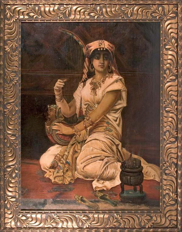 284: Scherl-Young Egytian-oil on canvas