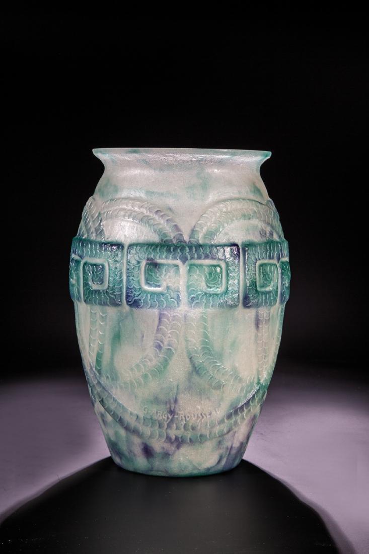 Vase mit griechischem Fries
