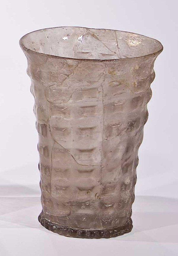 6: Becher (Spechter) antique glass beaker German