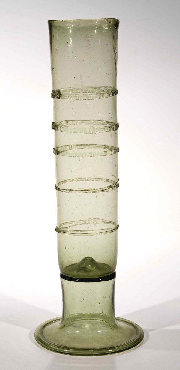 10: Stangenglas antique glass beaker German