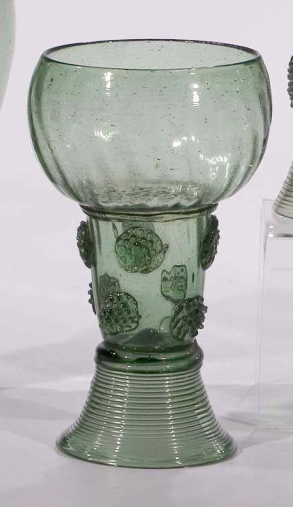 12: Roemer vintage glass rummer German or Dutch