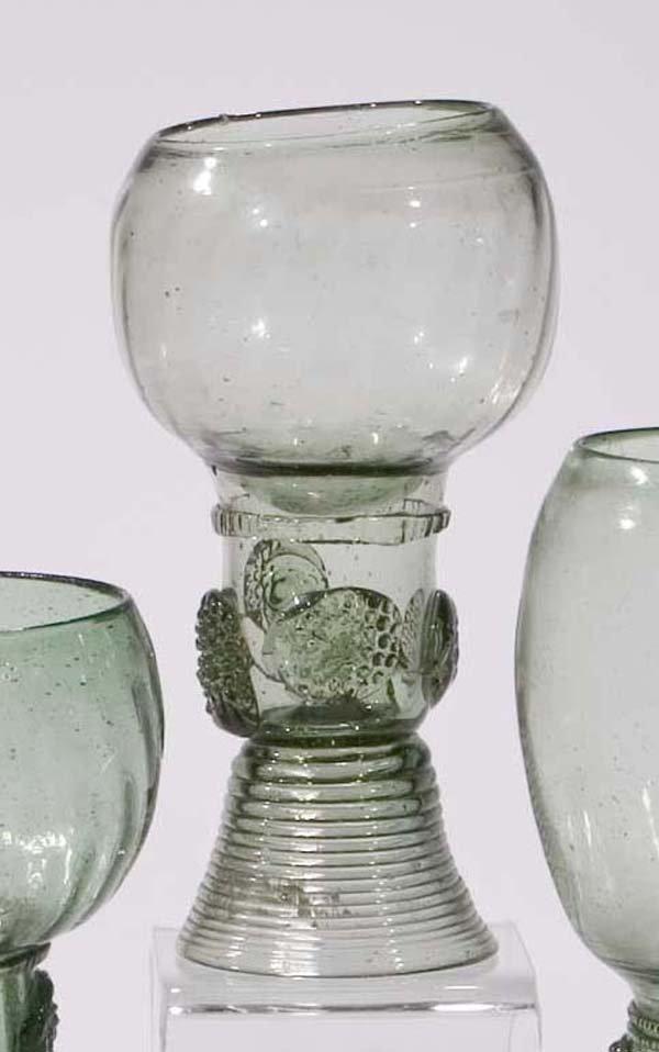 13: Roemer vintage glass rummer German or Dutch