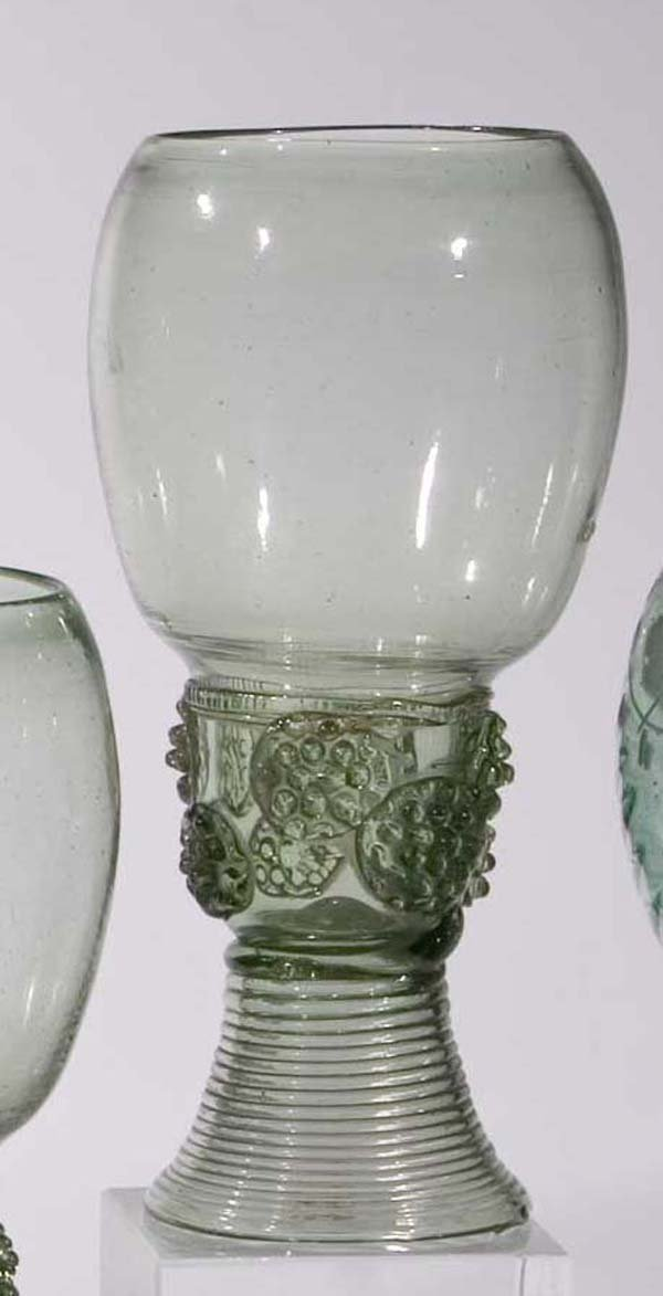 15: Roemer vintage glass rummer German or Dutch