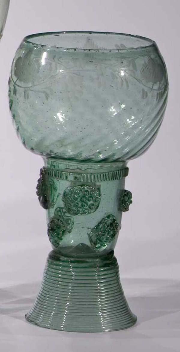 16: Roemer vintage glass rummer German or Dutch