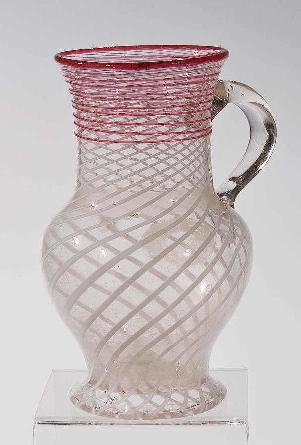 19: Birnkrug vintage glass jug German