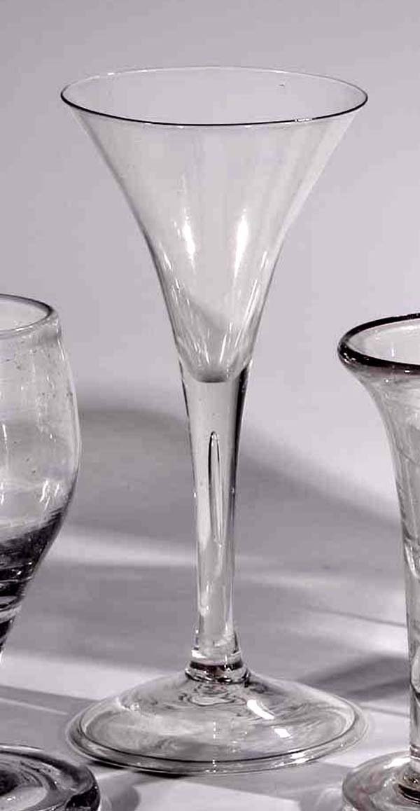 22: Kelchglas Facon de Venice vintage glass goblet