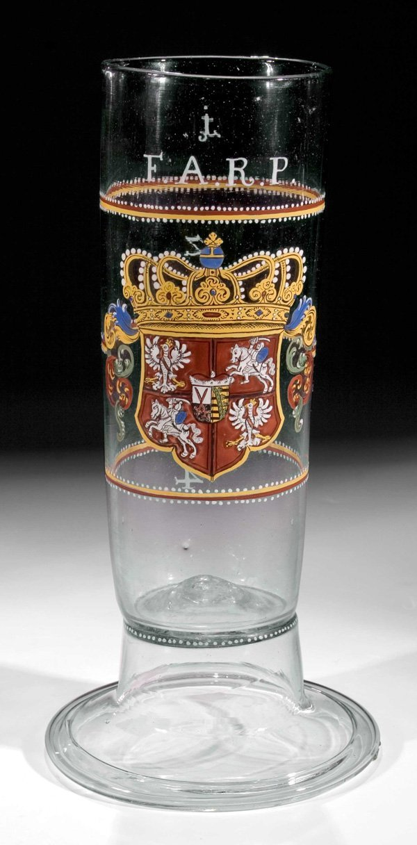 159: Hofkellerei-Passglas Sachsen glass beaker Saxonia