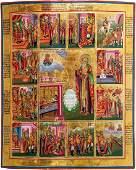 Große Vitaikone des Heiligen Charalampius