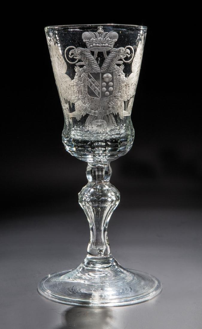 Großer Pokal mit dem Wappen von Kaiser Franz I.