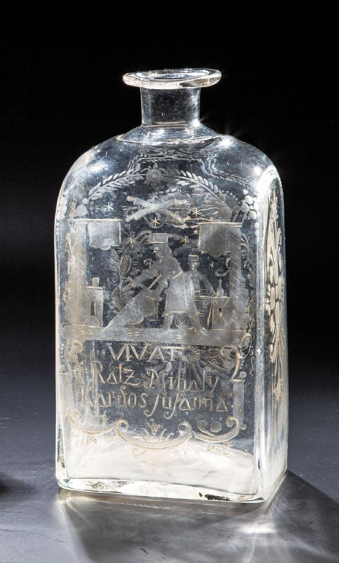 Rechteckflasche des Gerbers Rätz Mihaly