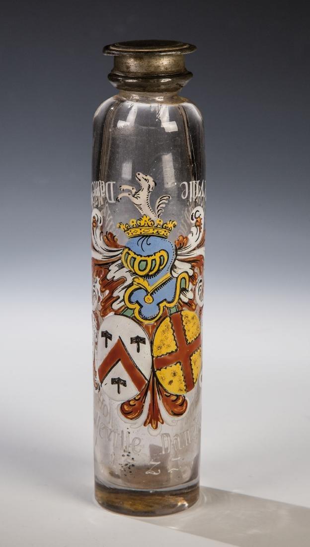 Wappenflasche mit Zinnschraubverschluss