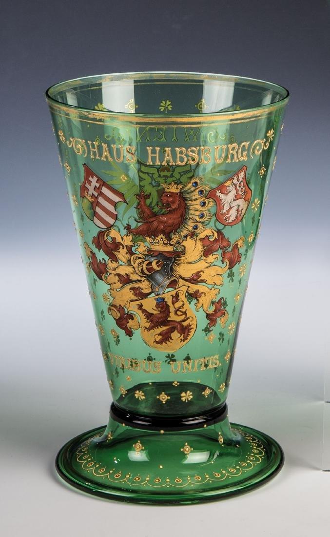 Seltener Wappenhumpen mit dem Wahlspruch von Kaiser
