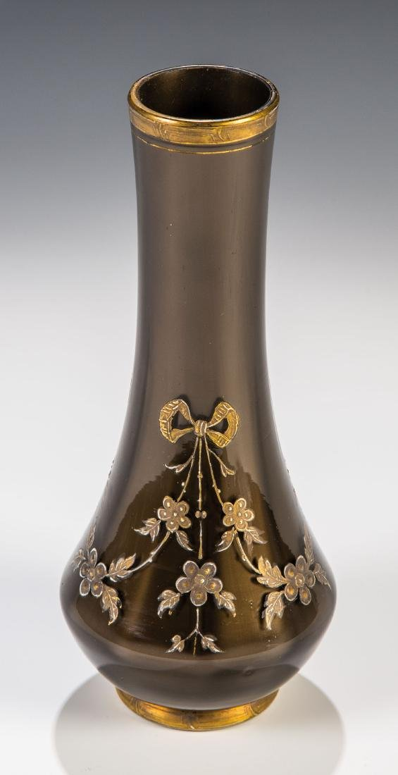 Vase ''Braun Metallin optisch''