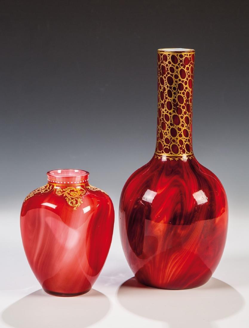 Zwei Vasen ''Karneol''