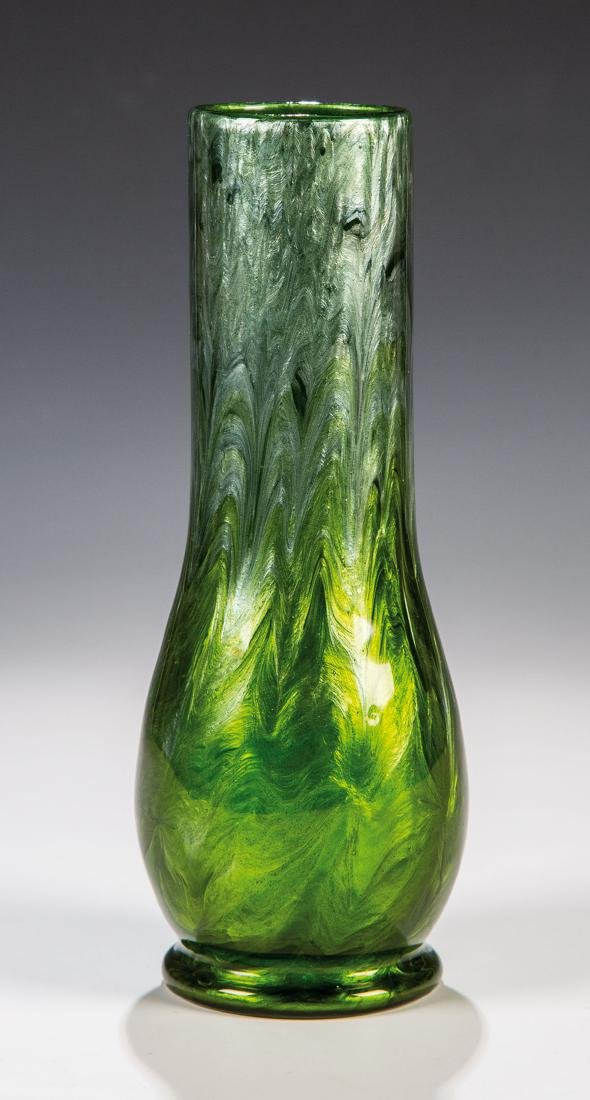 Vase ''Titania Grün mit Silber''