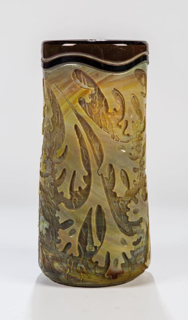 Zylindervase mit Unterwasserdekor