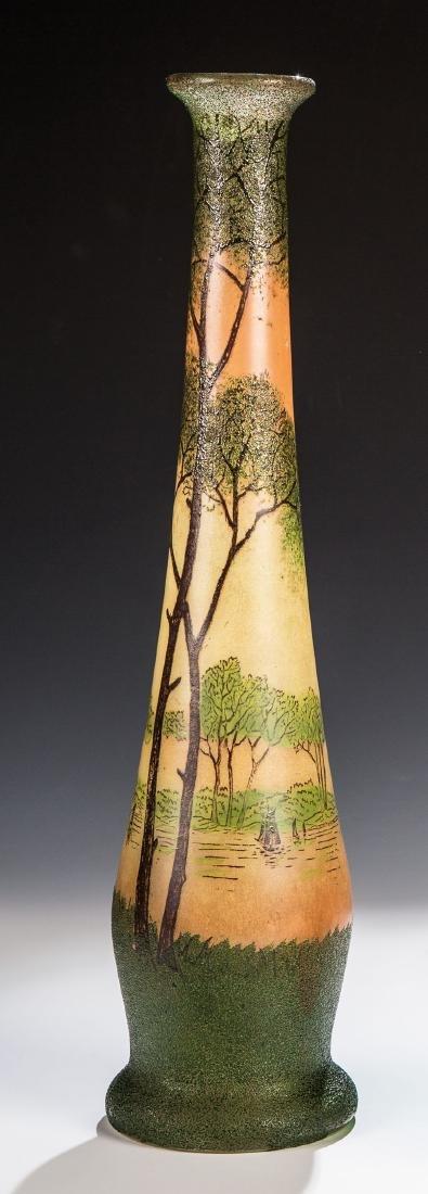 Vase mit Flusslandschaft