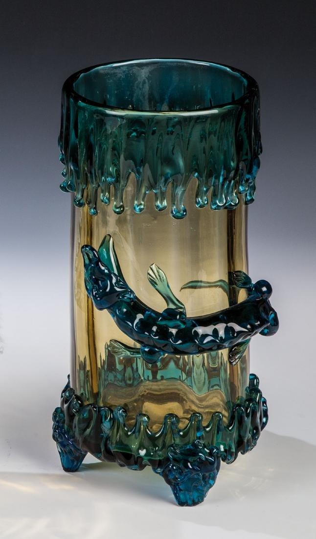 Zylindervase mit Echse