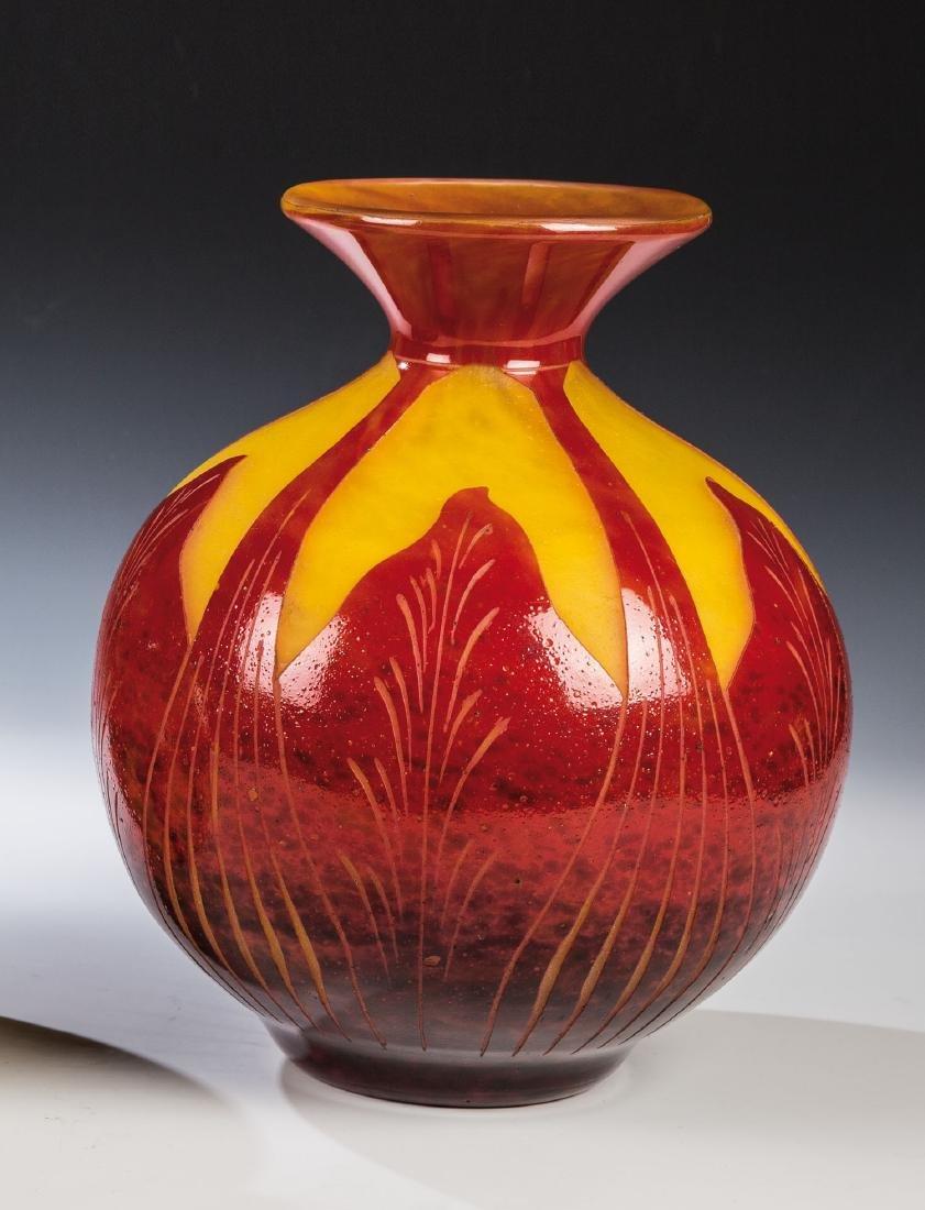 Vase ''Feuilles de Tabac''