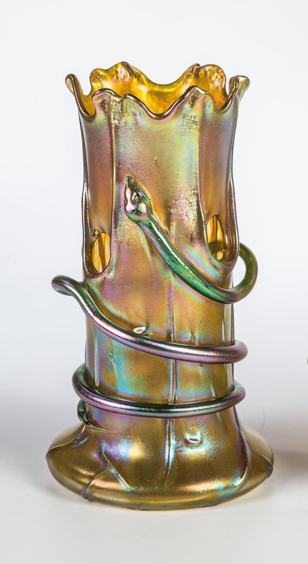 Vase ''Candia Silberiris mit Schlange''