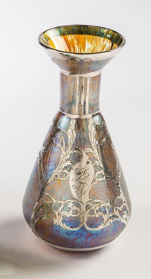 Vase ''Candia Papillon'' mit galvanisiertem