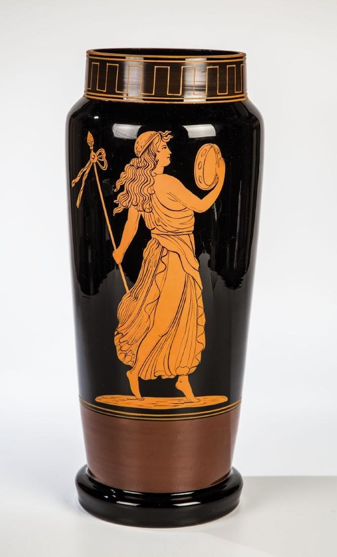 Große Vase mit Tänzerin