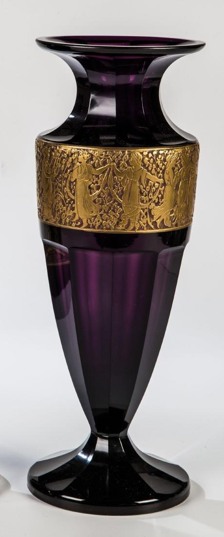 Vase mit antikisierendem Figurenfries