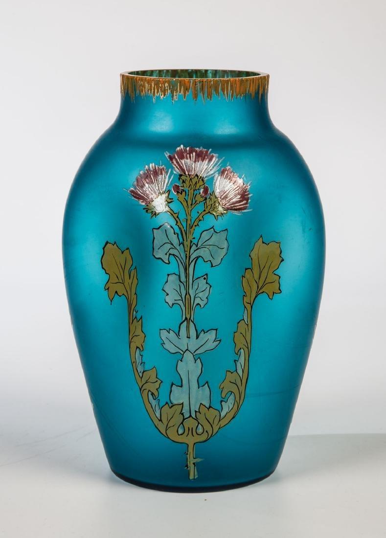 Vase mit Silberdistel