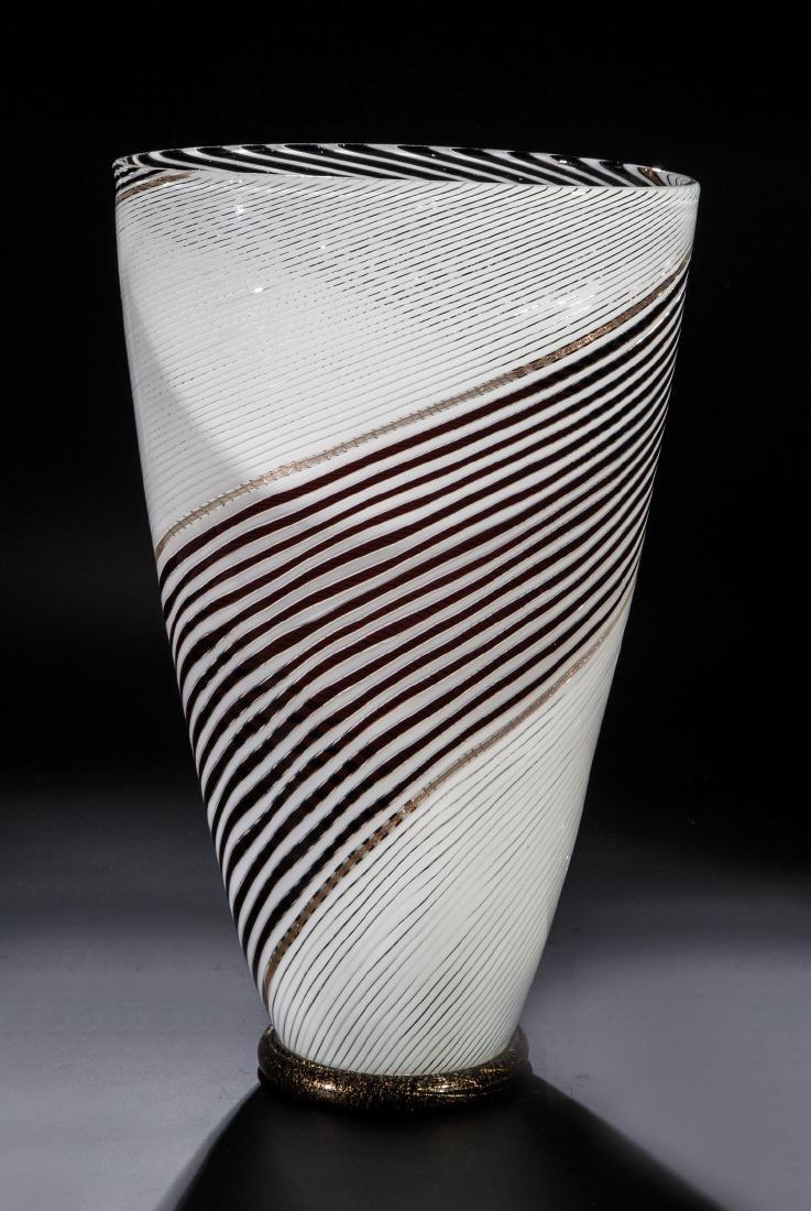 Große Vase ''A Fasce Bianco Nero''