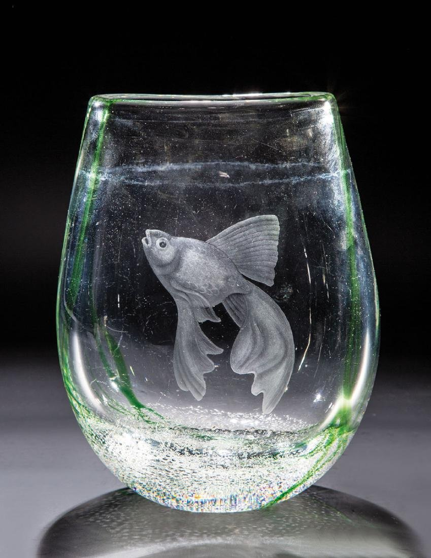 Vase mit Unterwasserdekor