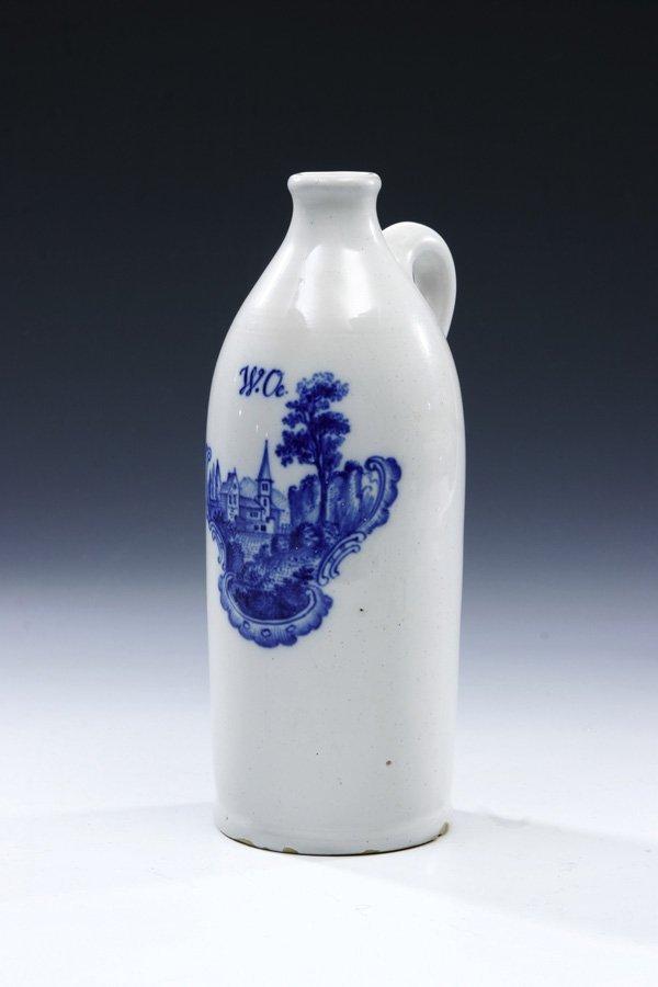 226: Henkelflasche Durlach Faience Bottle