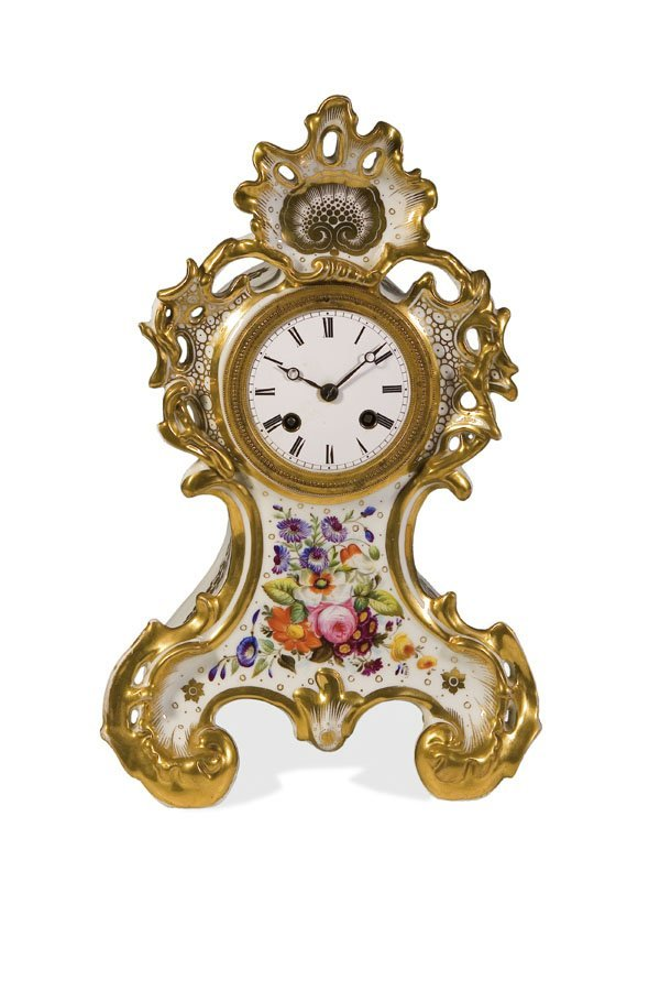 1019: Russian Table clock Jussupow Russia Tischuhr