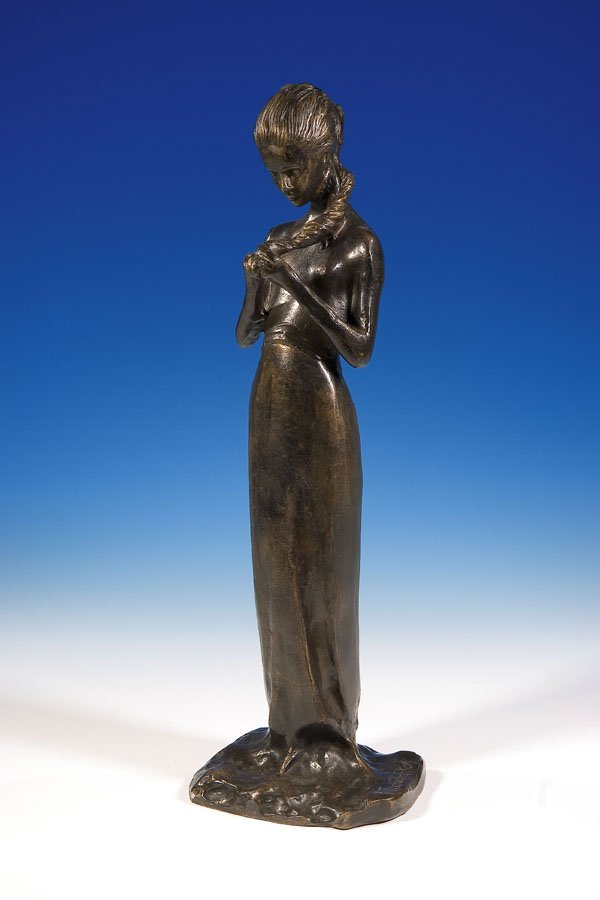 1365: Russian Bronze Troubetzkoy russische Bronzefigur