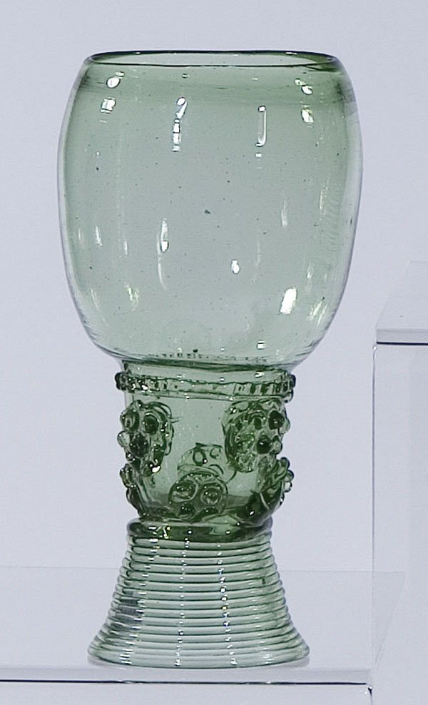 2: Roemer Rummer Germany Holland Glass antique old