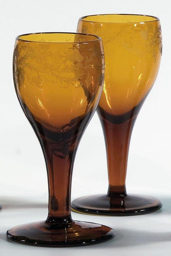 14: Paar Suedweinglaeser Pair Wine Glasses German