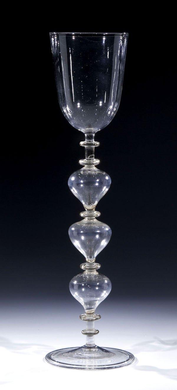 17: Pokal Goblet Facon de Venice Cup antique  Glass