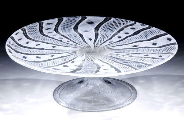18: Schale Bowl Facon De Venice antique old Glass