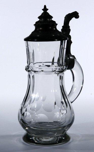 19: Bierkrug German beer jug Deutsch Glass old