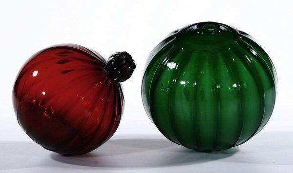 21: 2 Altar kugeln Altair Balls Glass Bavarian Wood